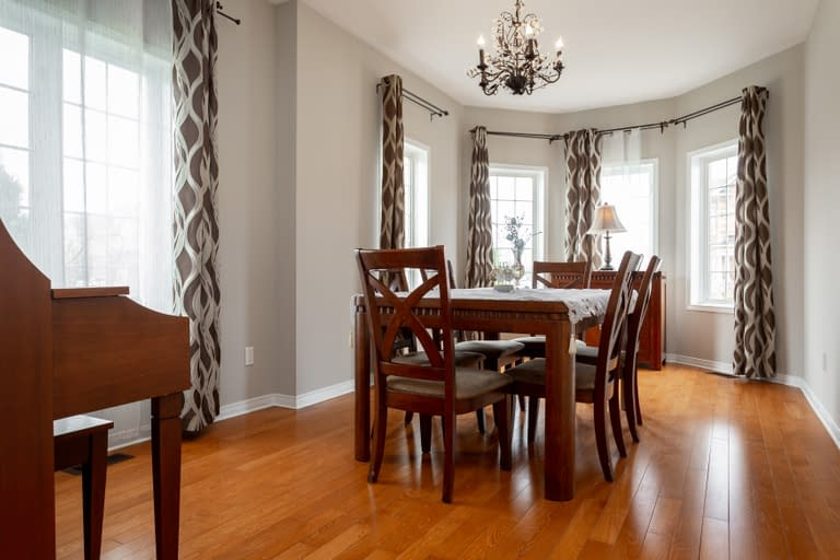 Classic dining room setting for a real estate listing at 4660 Kurtz Road