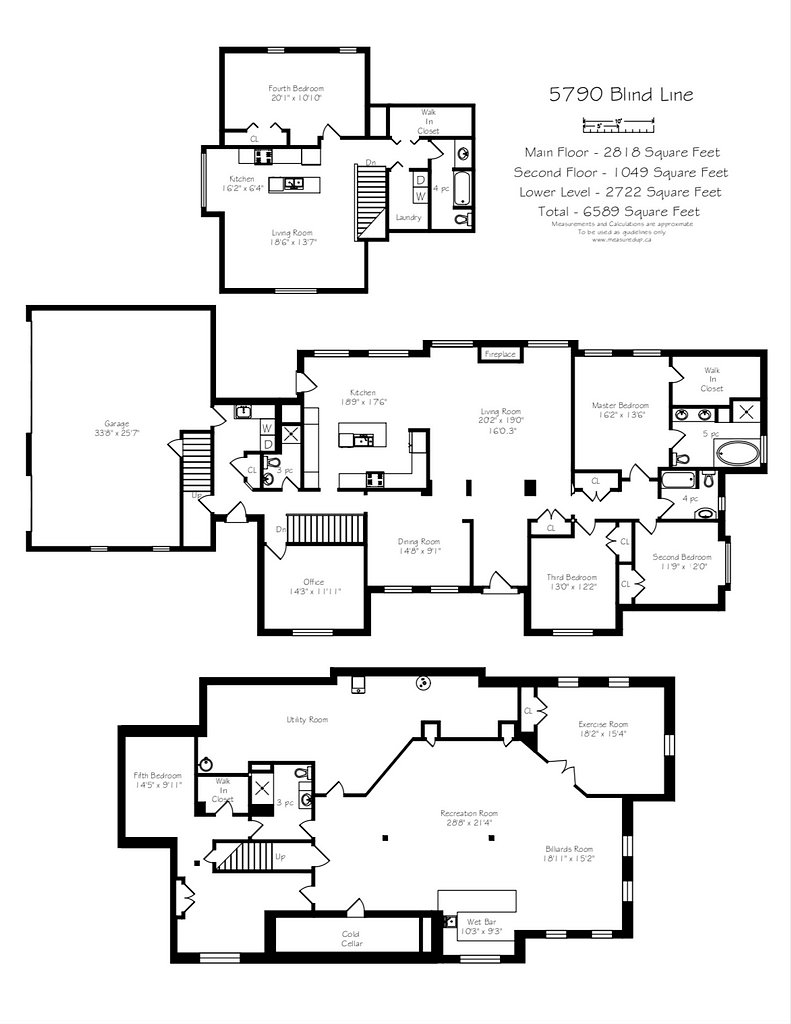 Floor Plan for 5790 Blind Line in Burlington Ontario