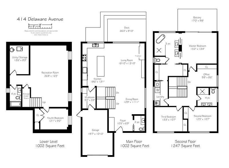 floor plan for 414 Delaware Avenue
