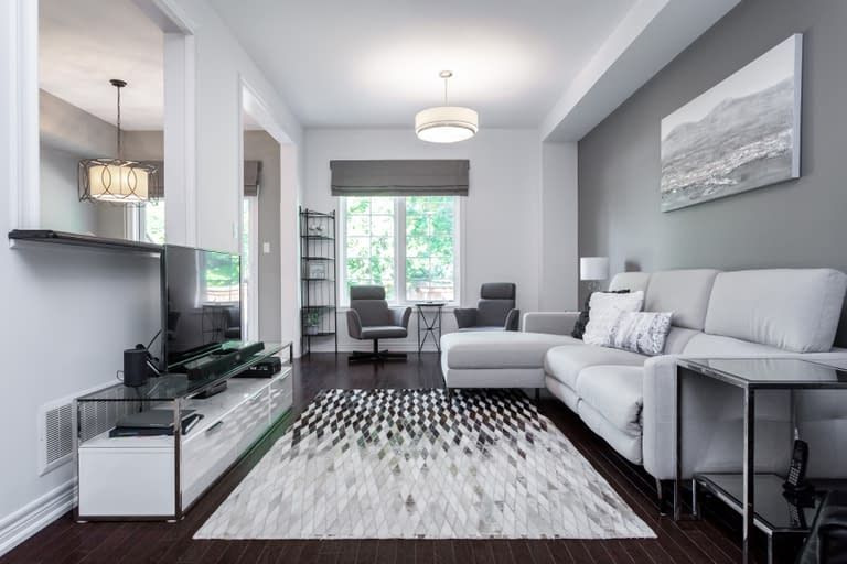 Modern and bright living room area from 5-2086 Ghent Avenue for Real Estate